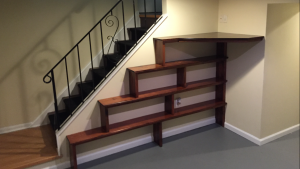 Custom Stair Wall Shelving