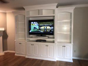 large tv built in cabinet
