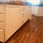 white kitchen back of island