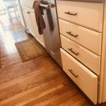 white kitchen lower cabinets