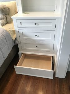 bedroom sidetable custom built