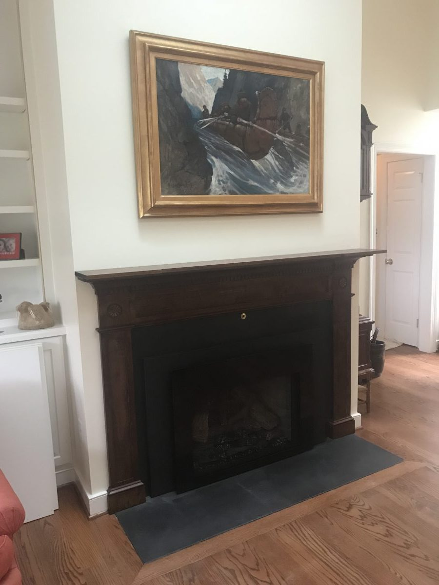 mantle installed by martin and calloway