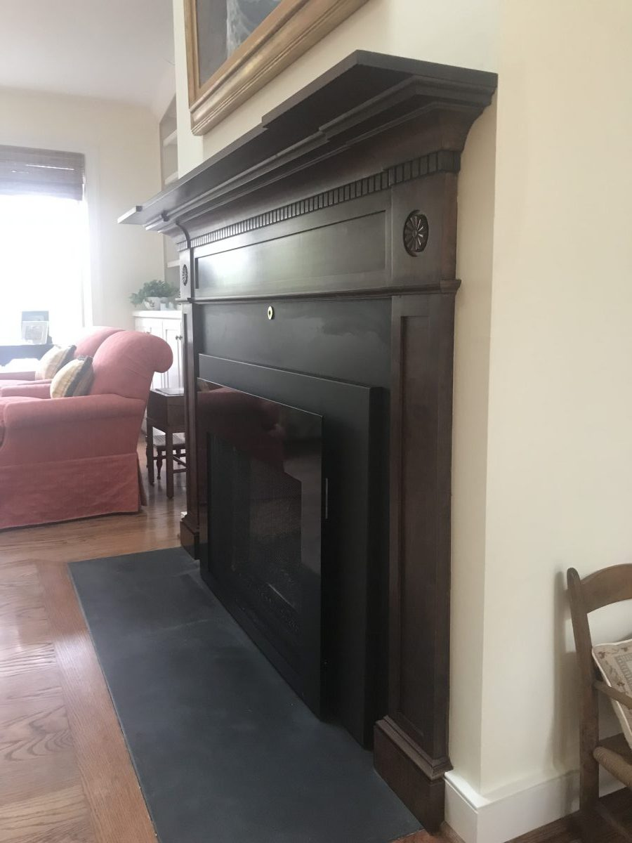 wood mantle design and installation